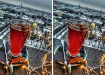 Alkoholiskais kokteilis – Karstā dzērvene ar jumtiņu