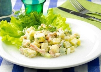 Kartupeļu salāti ar zivi