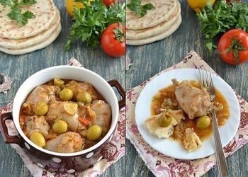 Cepta vistas gaļa ar plāceņiem grieķu gaumē