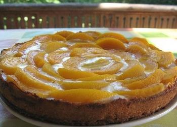 Auzu pārslu – augļu kūka