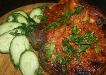 Grilēti cūkgaļas steiki alū
