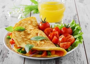 Omlete ar zaļumiem franču gaumē