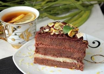 Šokolādes kūka ar citronu krēmu