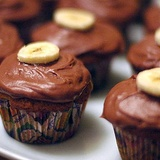 Mazās šokolādes – banānu kūciņas