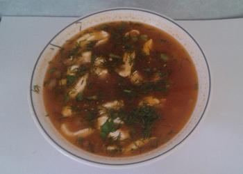 Skābētu gurķu zupa ar liellopu gaļu