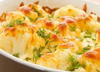 Ziedkāposti ar sieru
