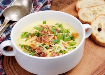 Piena zupa ar speķi