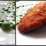 Зеленый горошек в молочном соусе