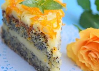 Magoņu – apelsīnu krēma torte