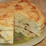 Быстрые хачапури с творожено - сырной начинкой