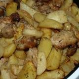 Kartupeļu sēņu sautējums ar cūkas gaļu