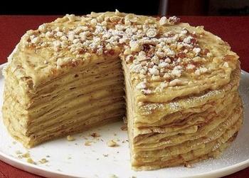 "Pankūku torte ar ""Mascarpone"" siera krēmu"