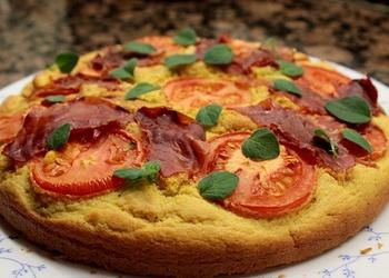 Tomātu kūka ar Pesto mērci un Mocarellas sieru