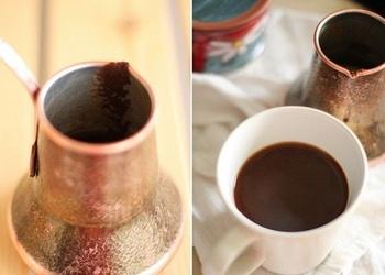 Kā pagatavot kafiju turku gaumē (divi varianti)