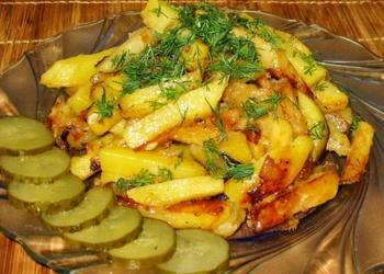 Cepti kartupeļi ar sīpoliem