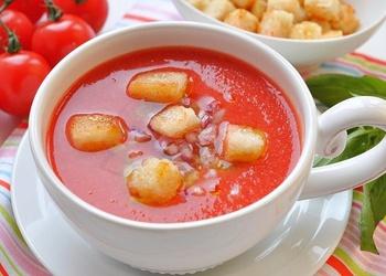 Aukstā Gaspačo zupa