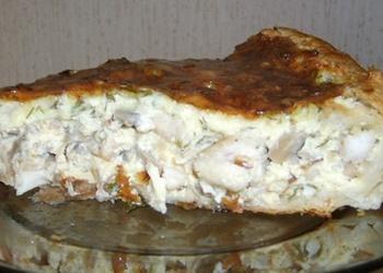 Vistas gaļas pīrāgs ar šampinjoniem un sieru