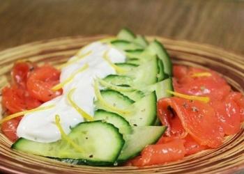 Laša salāti ar svaigu gurķi