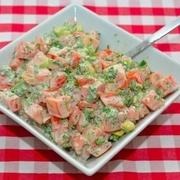 Tomātu un avokado salāti