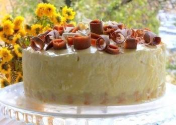 Svētku torte ar biezpiena krēmu un šokolādi