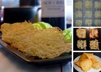 Recepte tikai ar vienu sastāvdaļu - Fiksie siera čipsi