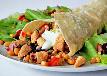 Burrito ar vistu un dārzeņiem
