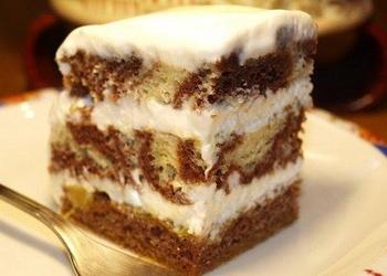 """Skābā krējuma torte """"Zebra"""""""