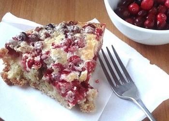 Пирог с клюквой
