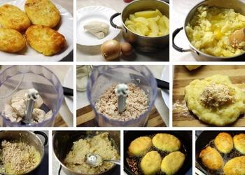 Kartupeļu kotletes ar vistu