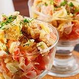 Салат с вeтчиной и помидорами