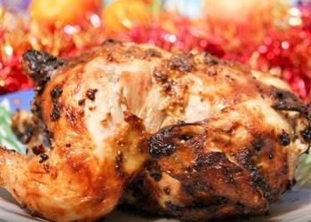 Цыплята, фаршированные рисом с грибами