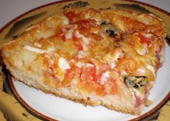 Desu, siera un dārzeņu pica
