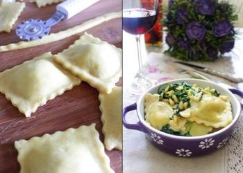 Ravioli ar sēnēm un sieru