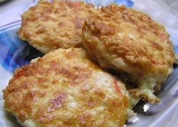 Krabju nūjiņu kotletes ar sieru