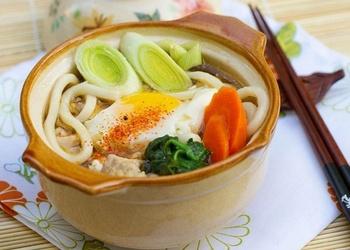 Nabeyaki Udon - japāņu nūdeļu zupa