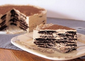"Šokolādes vafeļu – ""Mascarpone"" siera krēma kūka"