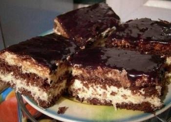 Šokolādes torte ar kokosriekstu – mannas krēmu