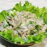 Vistas filejas salāti ar šampinjoniem