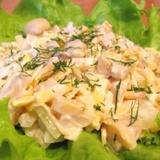 Sātīgi sēņu salāti ar olu