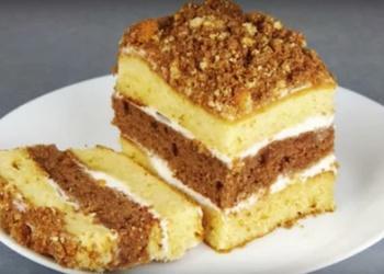 Торт со сгущенкой за 30 минут