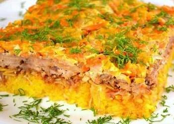 Rīsu sacepums ar malto gaļu mājas gaumē