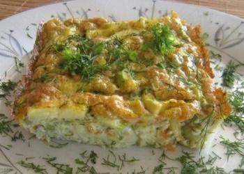 Krāsnī cepta kabaču omlete