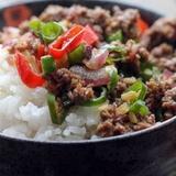 Rīsi ar dārzeņiem un gaļu