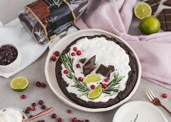 Веганское датское пирожное из ржаного хлеба для сторонников здорового питания