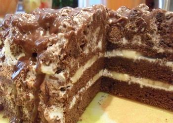 Šokolādes-banānu torte