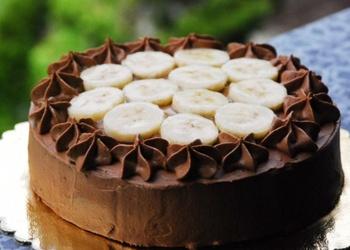 Šokolādes – banānu kūka ar prjaņikiem